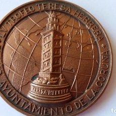 Medallas históricas: ESPAÑA - MEDALLA - LV TROFEO TERESA HERRERA- CORUÑA 2000 ( 110,65 GR. ) SC UNC ( P079 ). Lote 152773526