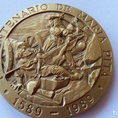 Medallas históricas: ESPAÑA - MEDALLA - IV CENTENARIO - TROFEO TERESA HERRERA- CORUÑA 1989 ( 130,00 GR. ) SC UNC ( P081 ). Lote 152776286