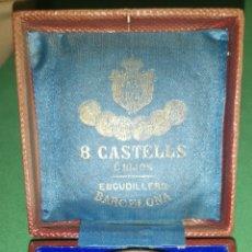 Medallas históricas: MEDALLA MEDALLÓN CONMEMORATIVO DE LAS BODAS DE ALFONSO 12 Y MARÍA DE LAS MERCEDES 1878 CASTELL. Lote 152849781