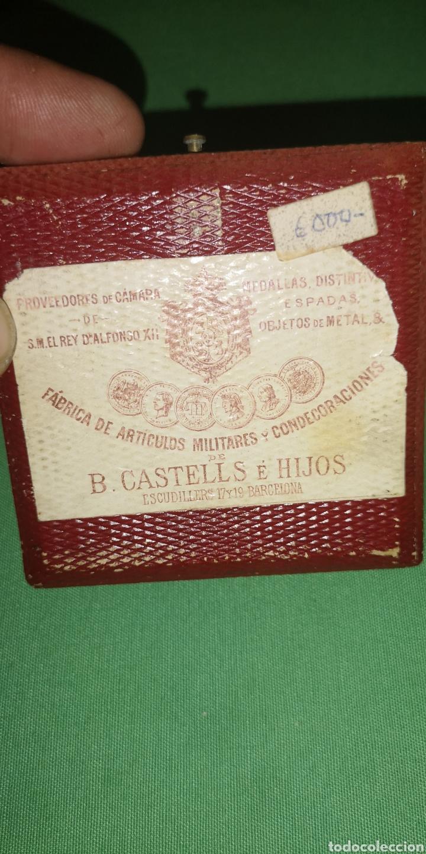 Medallas históricas: Medalla medallón conmemorativo de las bodas de Alfonso 12 y María de las Mercedes 1878 Castell - Foto 5 - 152849781