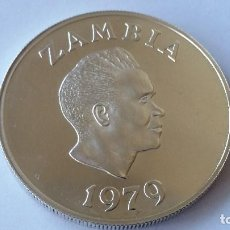 Medallas históricas: ZAMBIA - MONEDA- 10 KWACHA 1979 PLATA SC UNC ( P110 ). Lote 152924138