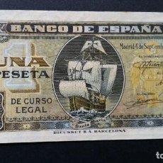 Historical Medals - ESPAÑA - BILLETE - 1 PESETA 1940 ( SERIE H ) SC UNC ( T014 ) - 153367674