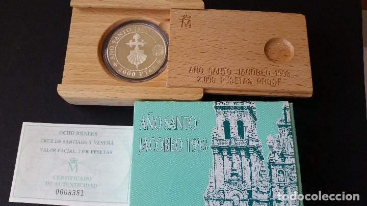 ESPAÑA - MONEDA - 5 EUROS 1993 AÑO SANTO JACOBEO- PLATA SC UNC ( L007 ) (Numismática - Medallería - Histórica)