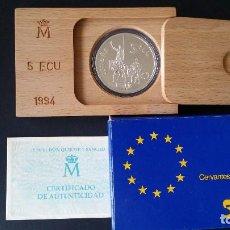 Historical Medals - ESPAÑA - MONEDA - 5 ECU 1994 PLATA SC UNC ( L011 ) - 153672906