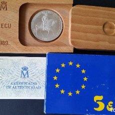 Historical Medals - ESPAÑA - MONEDA - 5 ECU 1989 PLATA CARLOS V SC UNC ( L012 ) - 153673522