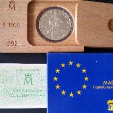 Historical Medals - ESPAÑA - MONEDA - 5 ECU 1992- MADRID CAPITAL EUROPEA DE LA CULTURA- PLATA SC UNC ( L013 ) - 153674786