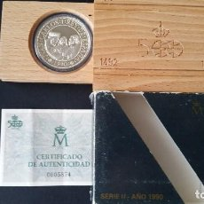 Medallas históricas: ESPAÑA - MONEDA - 5000 PESETAS 1990- QUINTO CENTENARIO- PLATA SC UNC ( L016 ). Lote 153677710