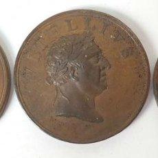 Medallas históricas: COLECCIÓN DE 3 MEDALLAS DE COBRE. EMPERADORES ROMANOS. INGLATERRA. SIGLO XX. . Lote 153937910