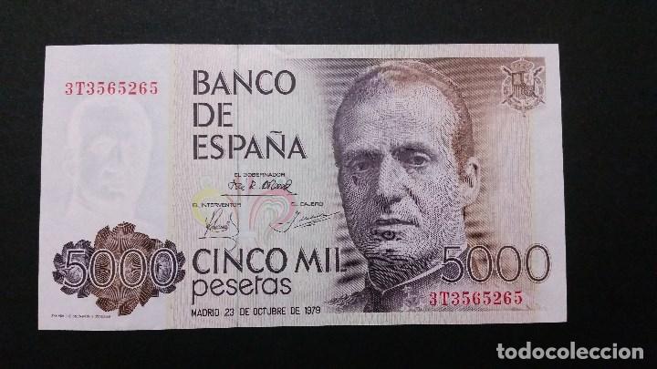 ESPAÑA - BILLETE - 5000 PESETAS 1979 ( SERIE 3T ) SC UNC ( T026 ) (Numismática - Medallería - Histórica)