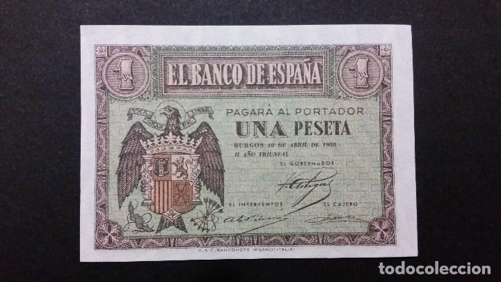 ESPAÑA - BILLETE - 1 PESETA 1938 ( SERIE E ) SC UNC ( T028 ) (Numismática - Medallería - Histórica)