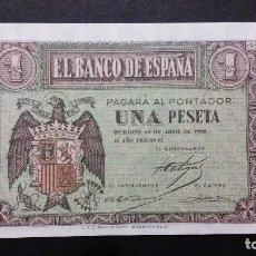Historical Medals - ESPAÑA - BILLETE - 1 PESETA 1938 ( SERIE E ) SC UNC ( T028 ) - 154021722