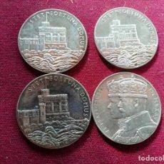 Medallas históricas: REINO UNIDO. JUBILEO. 25 AÑOS. PLATA. 4 MEDALLAS. 1935. Lote 154146530