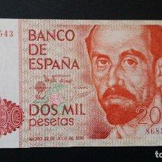 Historical Medals - ESPAÑA - BILLETE- 2000 PESETAS 1980 ( SIN SERIE ) SC UNC ( T049 ) - 154406070