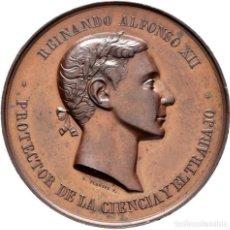 Medallas históricas: ESPAÑA. ALFONSO XII. MEDALLA EXPOSICIÓN DE GUADALAJARA. 1.876. Lote 155432766