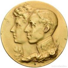 Medallas históricas: ESPAÑA. ALFONSO XIII. EXPOSICIÓN HISPANO-FRANCESA. ZARAGOZA 1.908. Lote 155434174