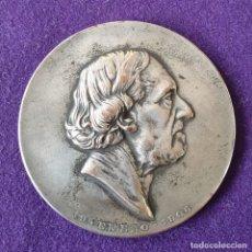 Medallas históricas: MEDALLA HOMENAJE AL GENERAL BARTOLOME MITRE. REVERSO J. DE H. Y N. A. BUENOS AIRES. COBRE PLATEADO . Lote 155496866