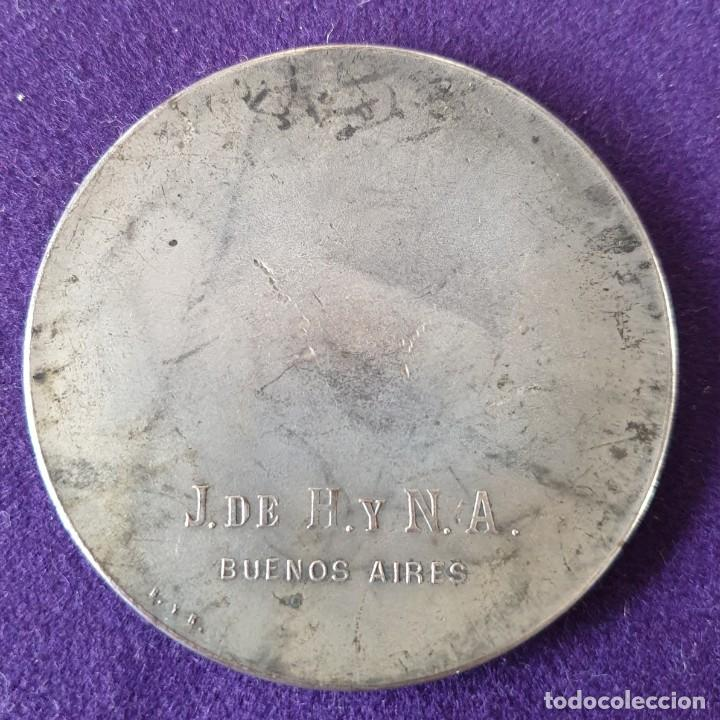 Medallas históricas: MEDALLA HOMENAJE AL GENERAL BARTOLOME MITRE. REVERSO J. DE H. Y N. A. BUENOS AIRES. COBRE PLATEADO - Foto 2 - 155496866