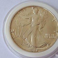 Medallas históricas: ESTADOS UNIDOS - MONEDA - 1 DOLAR 1988 PLATA SC UNC ( P267 ). Lote 155938694