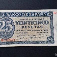 Historical Medals - ESPAÑA - BILLETE- 25 PESETAS 1936 ( SERIE R ) SC- UNC- ( T051 ) - 156879850