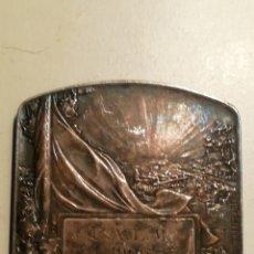 Medallas históricas: PLACA FRANCESA HIPPOLYTE LEFEVRE PATRIE BRONCE PLATEADO. Lote 158115733