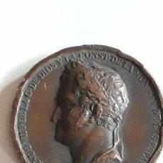 Medallas históricas: MEDALLA DE FERNANDO VII. RESTAURACIÓN DE LA CONSTITUCIÓN. 1820.. Lote 158136254