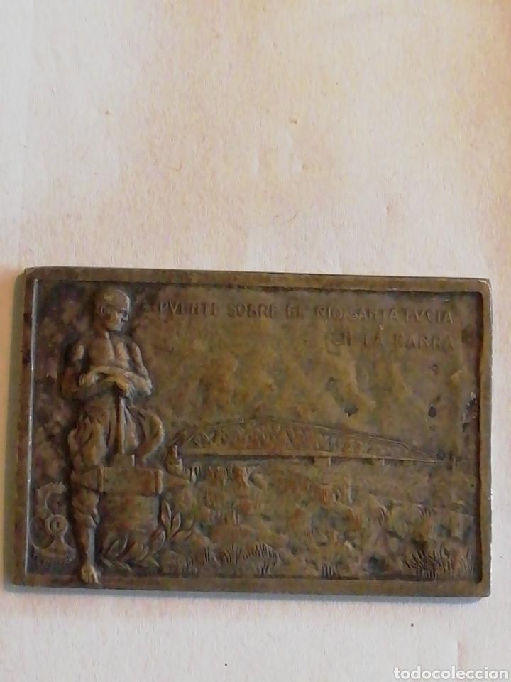 Medallas históricas: 1925 Inauguracion del Puente Carretero sobre el rio Santa LUCÍA MCMXXV - Foto 3 - 158695082