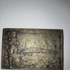 Medallas históricas: 1925 INAUGURACION DEL PUENTE CARRETERO SOBRE EL RIO SANTA LUCÍA MCMXXV. Lote 158695082