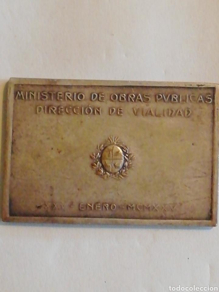 Medallas históricas: 1925 Inauguracion del Puente Carretero sobre el rio Santa LUCÍA MCMXXV - Foto 2 - 158695082