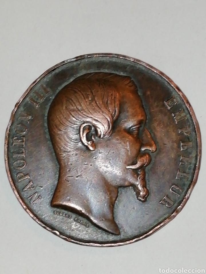 Medallas históricas: SEGUNDO IMPERIO, ESTATUA ECUESTRE DE NAPOLEÓN I EN CHERBURGO (EGIPTO), 1858 PARÍS - Foto 4 - 158696016