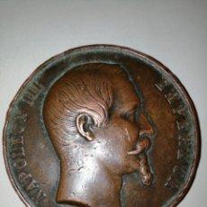 Medallas históricas: NAPOLEÓN III. (COLLIGNON 1778-1). ANV.: NAPOLEON III EMPEREUR. REV.: INAUGURÉE EN PRESENCE..... Lote 158696016