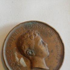 Medallas históricas: ALFONSO XIII REY CONSTITUCIONAL DE ESPAÑA EXPO DE INDUSTRIAS NACIONALES DE MADRID 1897-98. Lote 158698581