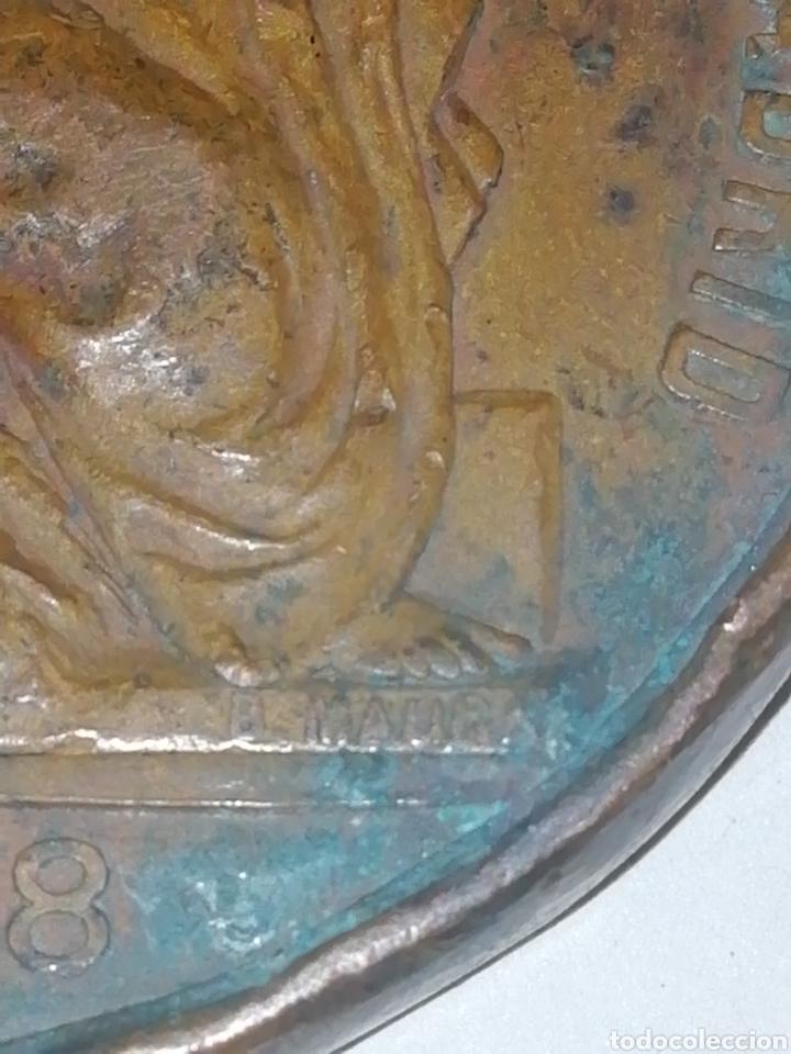 Medallas históricas: Alfonso XIII Rey Constitucional de España expo de industrias nacionales de Madrid 1897-98 - Foto 3 - 158698581