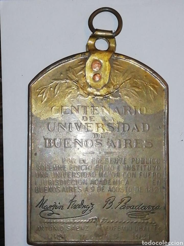 MEDALLASTÍTULO:UNIVERSIDAD DE BUENOS AIRES. CENTENARIOESCULTOR:CÁRCOVA. (Numismática - Medallería - Histórica)