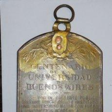 Medallas históricas: MEDALLASTÍTULO:UNIVERSIDAD DE BUENOS AIRES. CENTENARIOESCULTOR:CÁRCOVA.. Lote 158701593