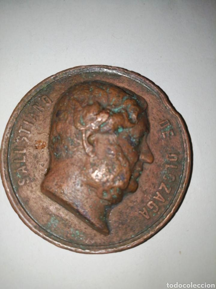 MEDALLA CONMEMORATIVA DE SALUSTIANO OLAZAGA,RIOJA ALAVESA OYON MDCCV (Numismática - Medallería - Histórica)