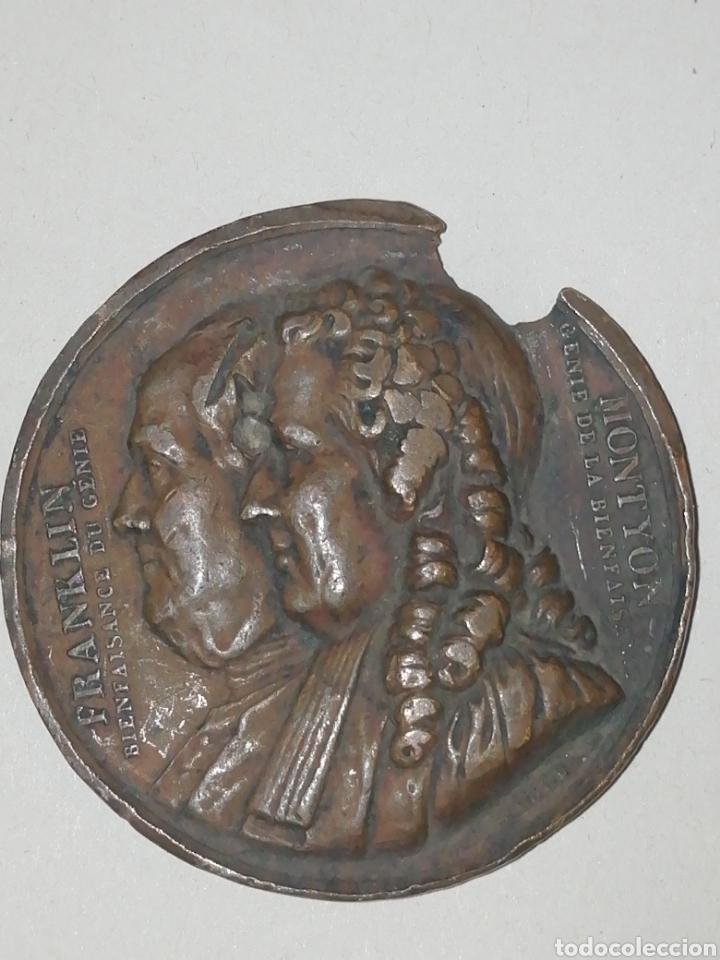 FRANKLIN MONYON GENIE DE LA BIENFAISANTE FALTAS (Numismática - Medallería - Histórica)