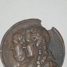 Medallas históricas: FRANKLIN MONYON GENIE DE LA BIENFAISANTE FALTAS. Lote 158708417