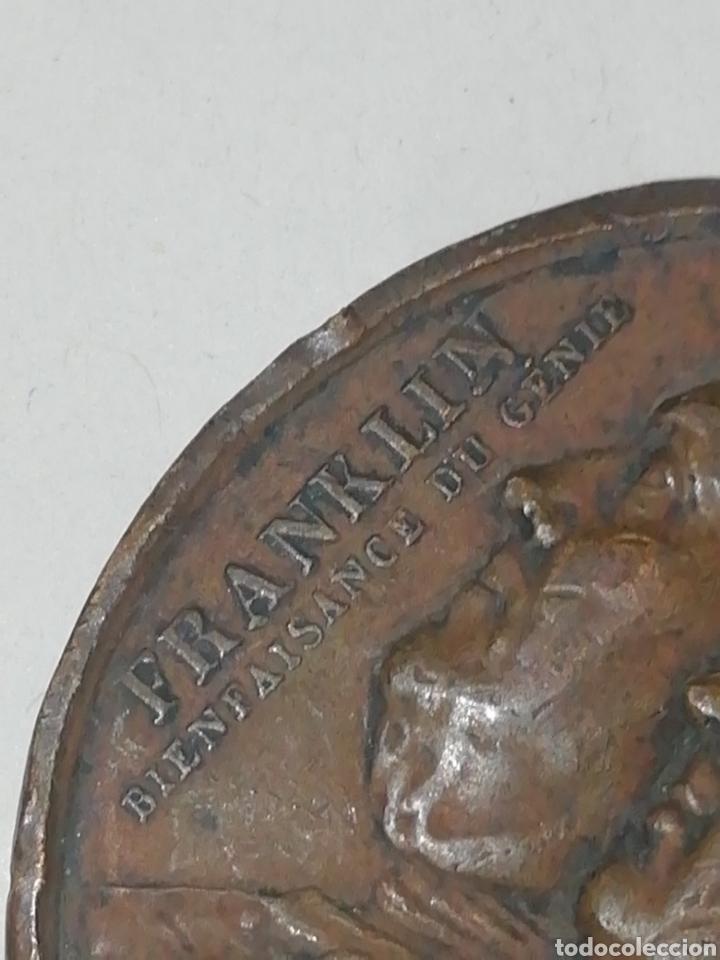 Medallas históricas: Franklin Monyon Genie de la Bienfaisante faltas - Foto 3 - 158708417