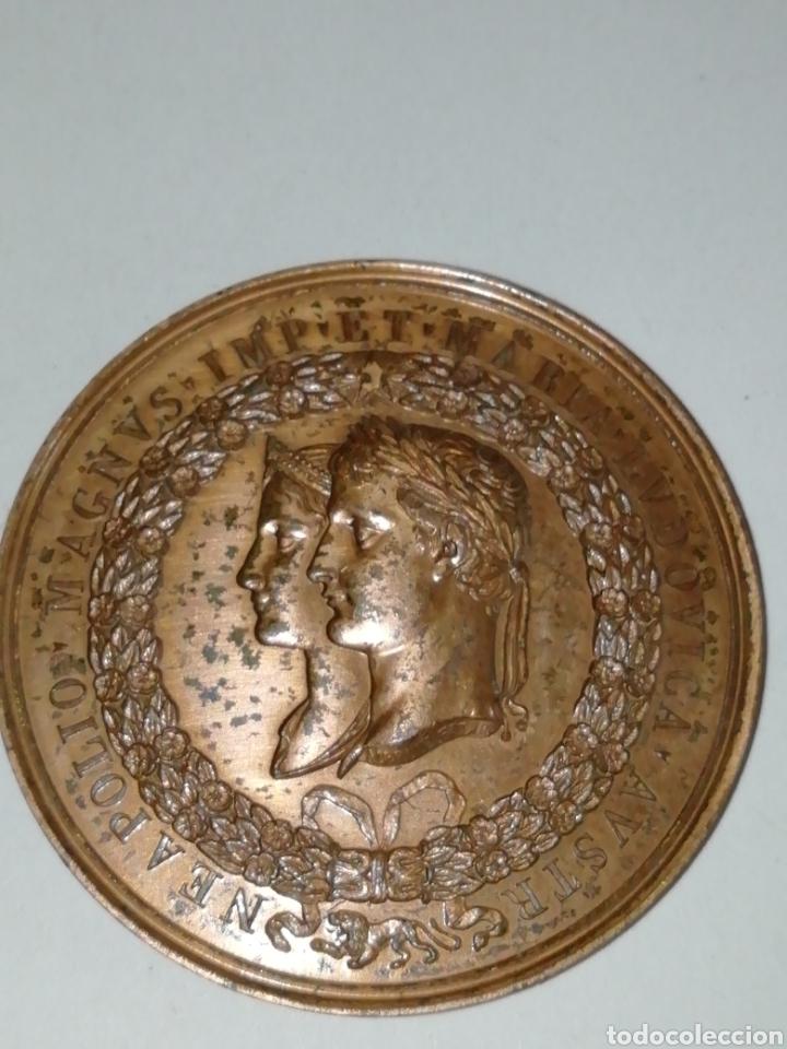 Medallas históricas: v09_1598-PRIMER IMPERIO Médaille BR 48, la ville de Lyon en lhonneur du mariage de Napoléon Ier e - Foto 2 - 159101090