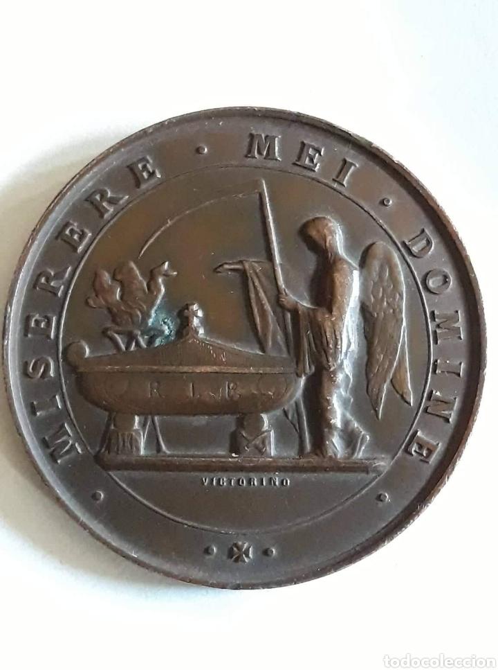 MEDALLA DEDIDACADA AL FALLECIMIENTO DEL PRIMER MARQUES DE SALAMANCA 21 ENERO 1883 (Numismática - Medallería - Histórica)