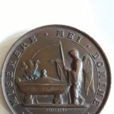 Medallas históricas: MEDALLA DEDIDACADA AL FALLECIMIENTO DEL PRIMER MARQUES DE SALAMANCA 21 ENERO 1883. Lote 159101638