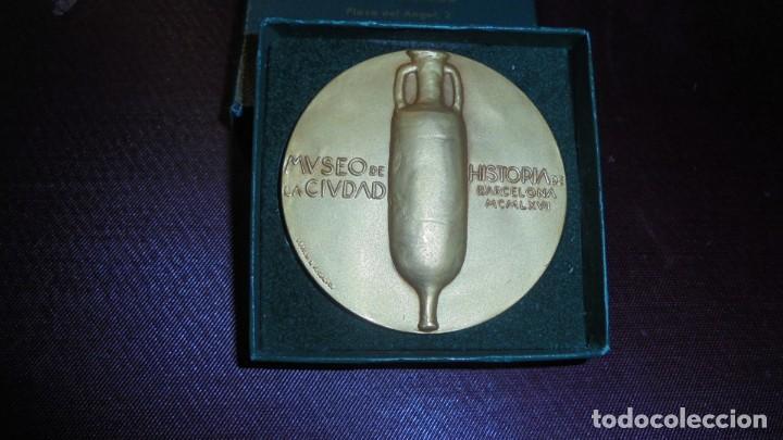 Medallas históricas: ANTIGUA MEDALLA DE BRONCE - AGUSTI DURAN I SAMPERE -ALS 80 ANYS MUSEO DE HISTORIA DE LA CIUDAD BARCE - Foto 2 - 159408098