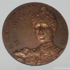 Medallas históricas: PRIMER CENTENARIO DE FNMT, REINA Mª CRISTINA, REINA REGENTE, DIAMETRO 6 CM - EDIATADA POR LA FÁBRICA. Lote 159496442