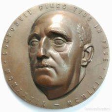 Medallas históricas: MEDALLA FRANCISCO FRANCO - 25 AÑOS DE PAZ - FNMT 1964. DIÁMETRO 85 ML. PESO 334 GR. . Lote 159501234