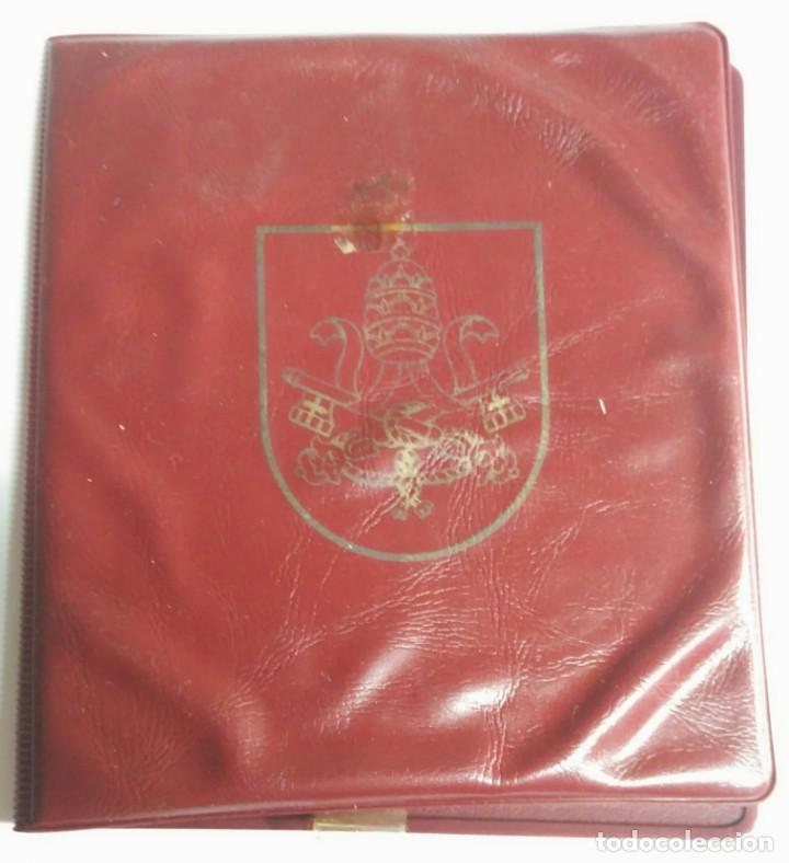 Medallas históricas: Medallas. Cartera del Vaticano con 4 medallas distintas. Colección de Papas . - Foto 2 - 159642110