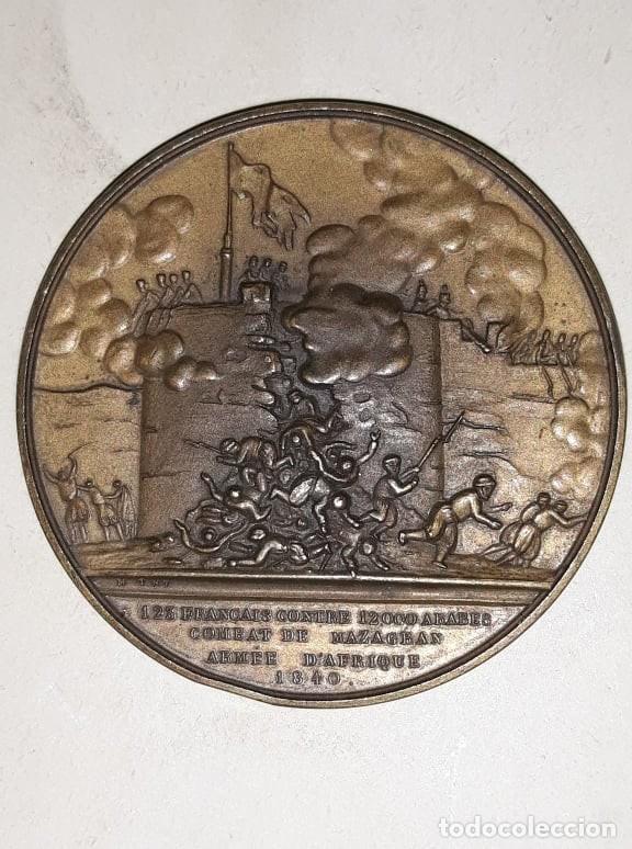 MEDALLA 1840 FRANCIA COMBAT DE MAZAGRAN, ARMÉE D'AFRIQUE, MONTAGNY MS (63) (Numismática - Medallería - Histórica)