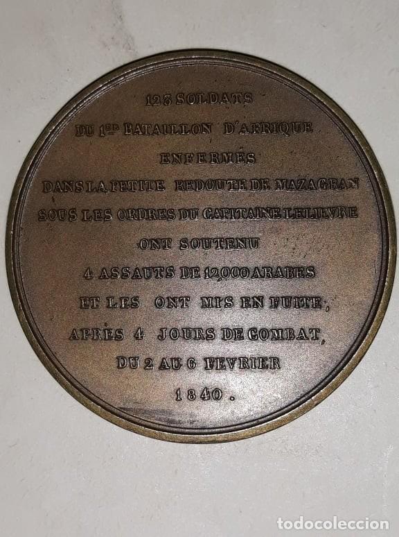 Medallas históricas: Medalla 1840 Francia Combat de Mazagran, Armée dAfrique, Montagny MS (63) - Foto 2 - 159796998