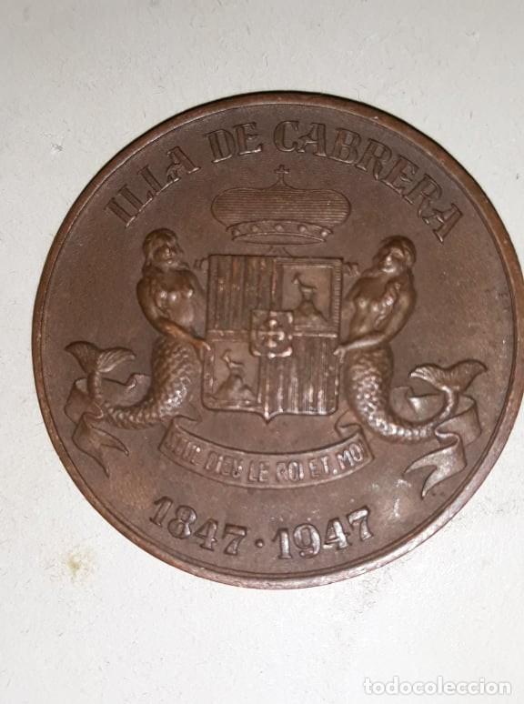 (1847-1947) MEDALLA ILLA DE CABRERA MALLORCA 1947. (Numismática - Medallería - Histórica)