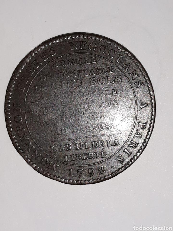 Medallas históricas: 2 Monedas 5 soles de pacto federativo 14 julio 1790 pvp/und - Foto 2 - 160360636