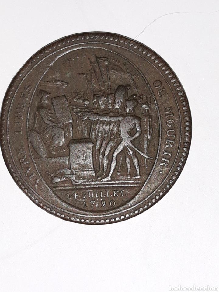 2 MONEDAS 5 SOLES DE PACTO FEDERATIVO 14 JULIO 1790 PVP/UND (Numismática - Medallería - Histórica)